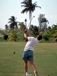 Golfing in Cancun, Mexico
